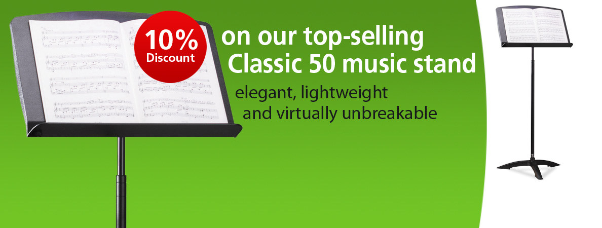 10% Discount on Classic 50 Music Stand