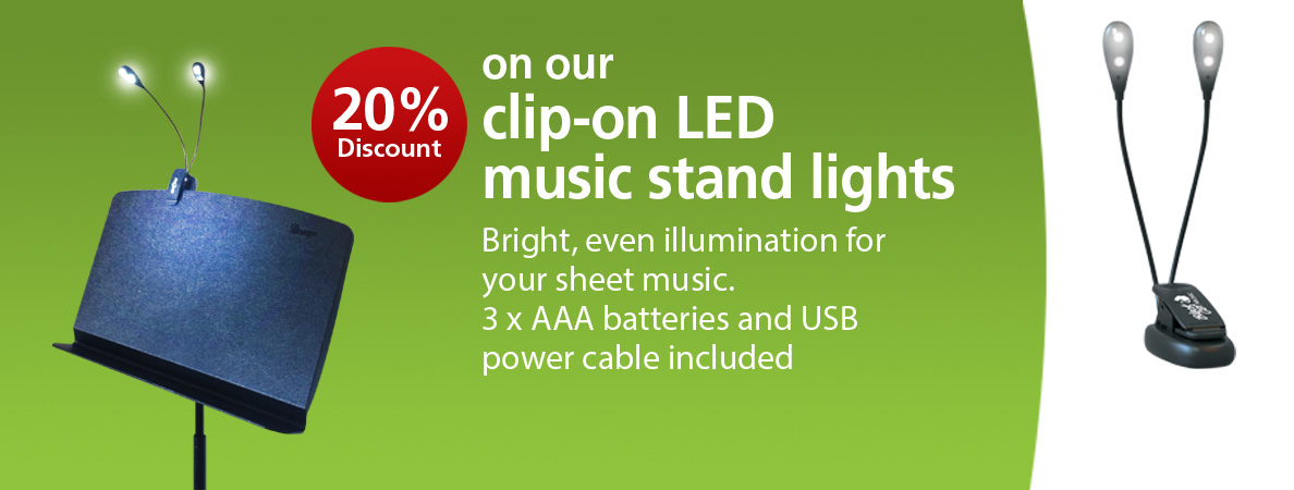 20% Discount on the Black Cat LED Music Stand Light