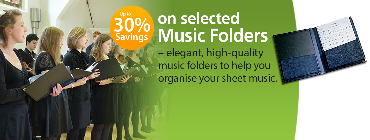 Up to 30% Discount on selected Music Folders throughout June