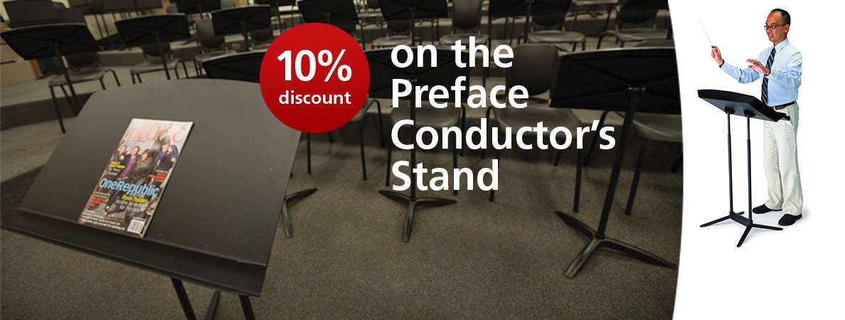 10% Discount on the Preface Conductors Stand throughout April