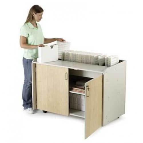 Music Sorting Rack With Lockable Doors From Wenger