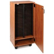 Three-Column Mobile Choral Folio Cabinet