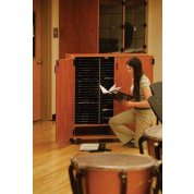 Two-column mobile band/orchestra folio cabinet