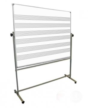 Large Music White Board and Mobile Stand