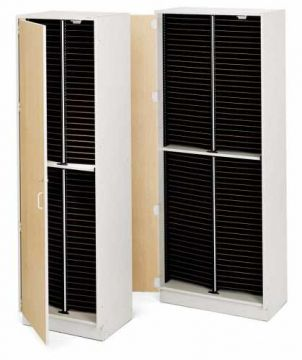 100-slot Choral Folio Cabinet with doors