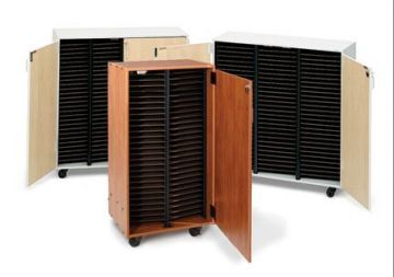 Four-Column Mobile Choral Folio Cabinet