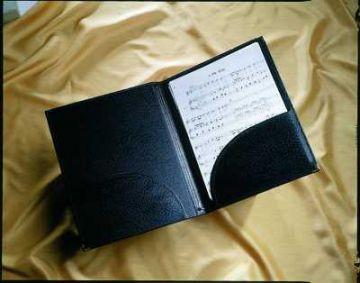 Music Folder - A4 choral folder, bottom pockets, strings